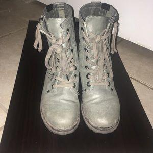 Gunmetal combat boots